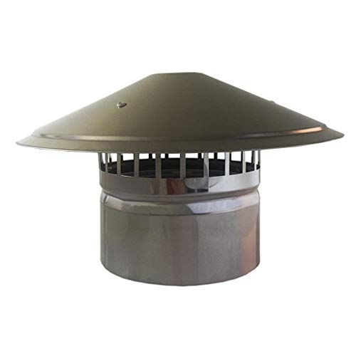 Great Features Of LXLTL Galvanized Chimney Cowl Pipe Rain Cover Protector Cap Ending Roof Cowl for D...