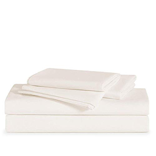 Brooklinen Luxe Core Sheet Set for California King Size Bed, Cream - 4 Piece Set (1 Fitted Sheet, 1 Flat Sheet + 2 Pillowcases)