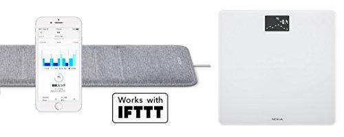 Nokia スマート睡眠パッド Sleep & スマート体重計 Body ホワイト【日本正規代理店品】