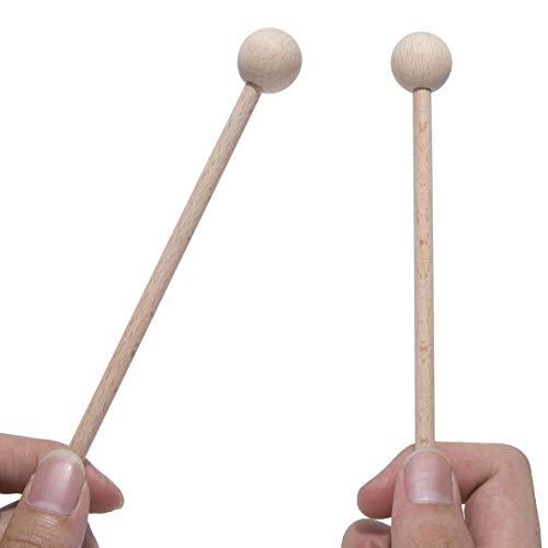 Wuyee Holzschlägel Percussion Sticks-Energy Chime, Xylophon, Holzblock, Glockenspiel und Bells Percussion Sticks (2 Paar)
