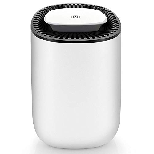 hysure Quiet and Portable Dehumidifier Electric, Deshumidificador, Home Dehumidifier for Bathroom, Crawl Space, Bedroom, RV, Baby Room (600ml)