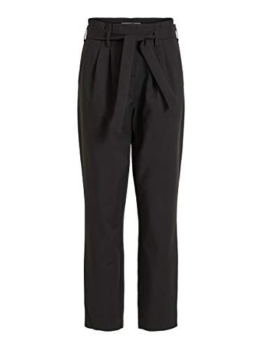 Vila Clothes Damen VISOFINA HW 7/8 Pant-NOOS Hose, Schwarz (Black), W33(Herstellergröße: 42)