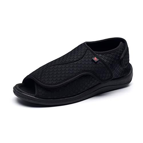 FLYFO Zapatos De Hombre, Zapatos para Diabéticos, Zapatos Ortopédicos, Zapatos De Boca Ancha, Lesiones En Los Pies, Artritis, Edema, Hogar, De Gran Tamaño, Cómodo, Transpirable, Ajustable,41