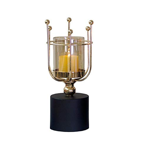 Kaarsenstandaarden 3D Candle standhouder Kandelaar Party Festival Wedding Decor Ornament van de Kunst Decoratie Gifts Kandelaar (Color : Gold, Size : As Shown)
