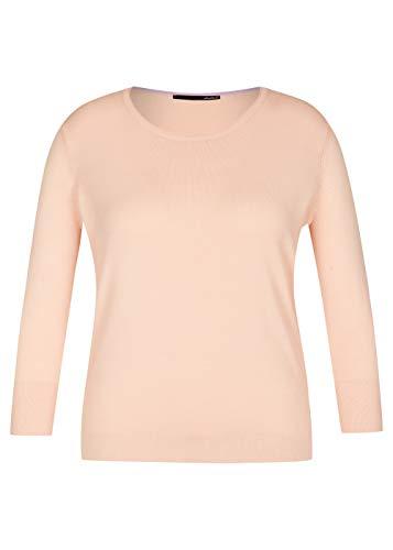 lecomte Damen Pullover mit Rippbündchen und Rundhalsausschnitt