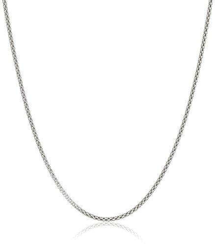 Sterling Silver Antique-Finish Popcorn Chain Necklace, 18""