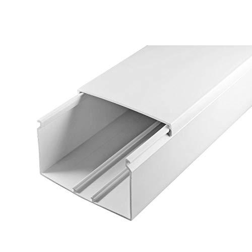 SCOS Smartcosat SCOSKK27 2 m Kabelkanal (L x B x H 2000 x 80 x 40 mm, PVC, Kabelleiste, Schraubbar) weiß