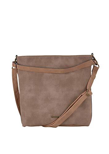 s.Oliver (Bags Damen Hobo Bag Henkeltasche, Braun (Partridge Brown), 9x42x43 cm