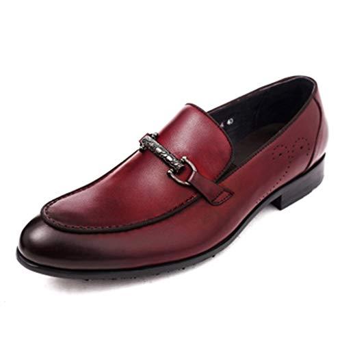 XHYX echt lederen mannen zakelijke jurk schoenen herenschoenen Britse kunstleer kleine schoenen rood