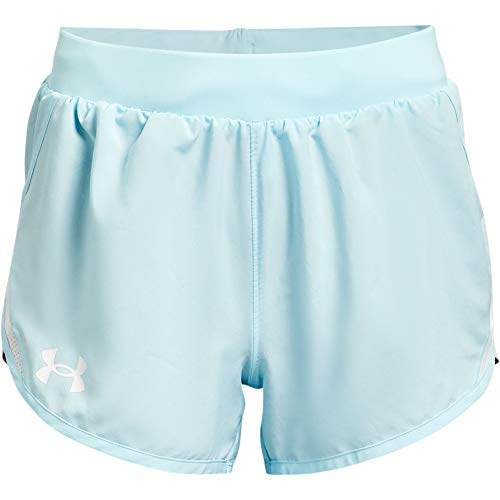 Under Armour Girls' Fly By Shorts , Breeze (441)/White , Youth X-Large