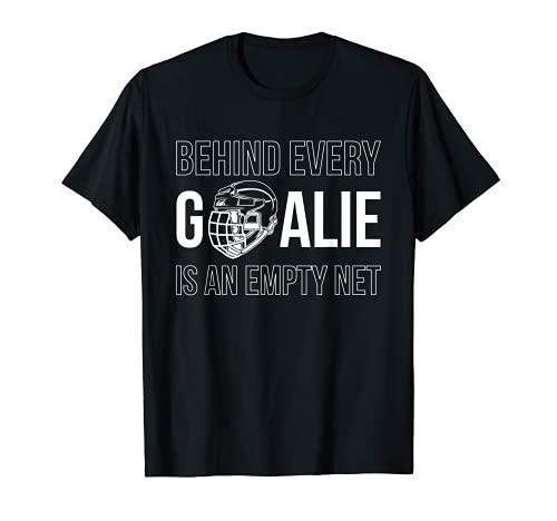Goalie Hockey Eishockey Hockeyschläger Schlittschuhe Puck T-Shirt
