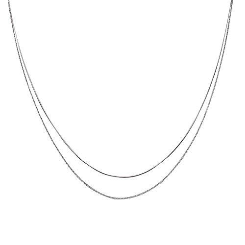 YZXYZH Collar Corto De Doble Cadena para Mujer
