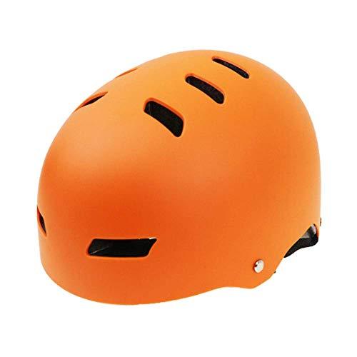 ZHAJMZ Équipement de Protection individuelle Ski Casque Ski Intégré moulé ABS + EPS Certificat CE Casque Ski Sports de Plein Air Ski Snowboard Skateboard - Casque Ski, Orange-S50-53cm