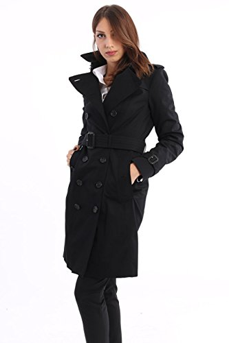 Burberry The Sandringham - Trench Coat Heritage Black, Mujer, Talla 10.