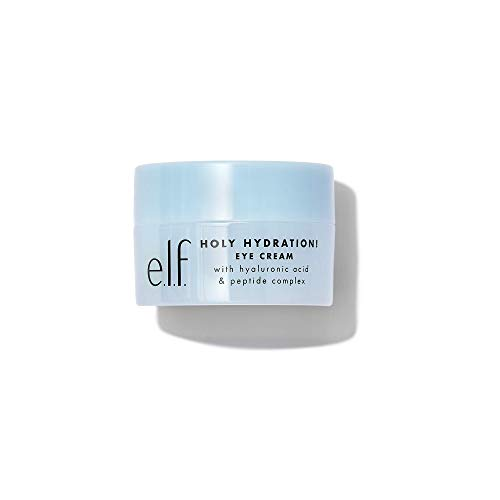 e.l.f. Holy Hydration! Eye Cream | Infused with Hyaluronic Acid & Peptides | Minimizes Dark Circles | 0.53 Oz (15g)