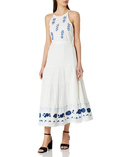 Desigual Vest_Memphis Vestido Casual, Blanco, M para Mujer