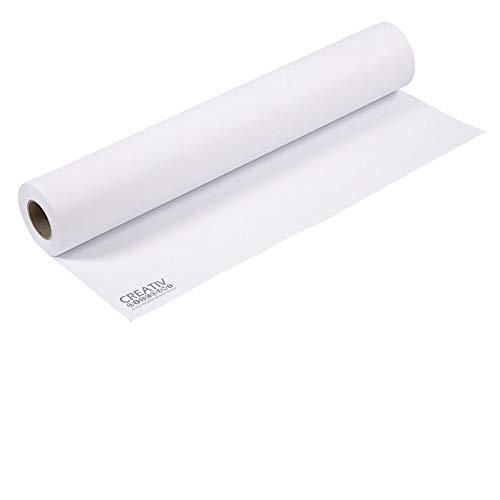 CREATIV DISCOUNT Zeichenpapier, 120 g/m², weiß, 1 Rolle, 60cm x 10m