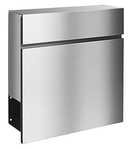 Frabox® Edelstahl Design Briefkasten LEVARA,mit Zeitungsfach, Qualität & Design Made in Germany