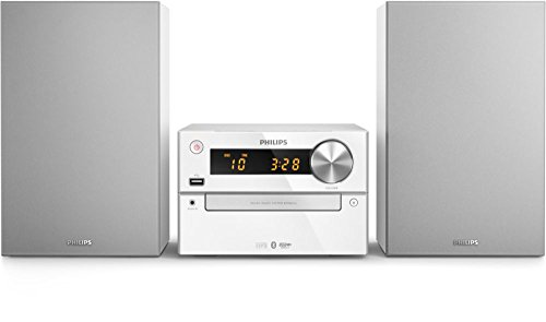 Philips BTM2312/12 Home Audio Micro System 15W Plata Sistema de Audio para el hogar - Microcadena (Home Audio Micro System, Plata, 1 Discos, Bandeja, 15 W, 7,62 cm)
