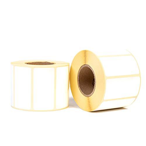 1000 Etiketten selbstklebend (60x30mm Weiß) - Klebeetiketten zum Beschriften - Aufkleber für Gläser, Marmelade, Einmachgläser & Tüten - Tiefkühletiketten Gefrieretiketten (-30°)