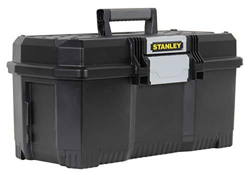 """Stanley Werkzeugbox / Werkzeugkoffer (24"""", 60.5x28.7x28.7cm, mit Schnellverschluss, stabiler Werkzeugkasten im Structural-Foam-Design, Aussparung im Deckel) 1-97-510"""