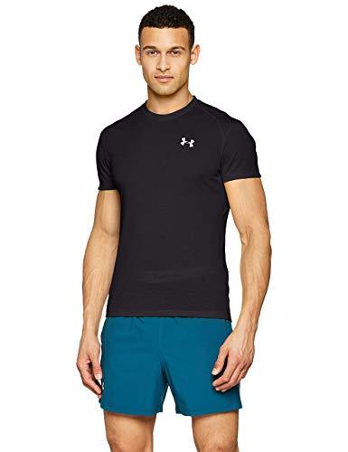 Under Armour UA Streaker 2.0 Camiseta, Hombre, (Black/Black/Reflective (001), L