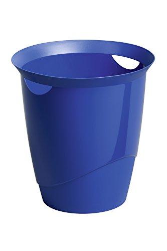 Durable 1701710040 Papierkorb Trend, mit Tragegriffen, 16 l, blau