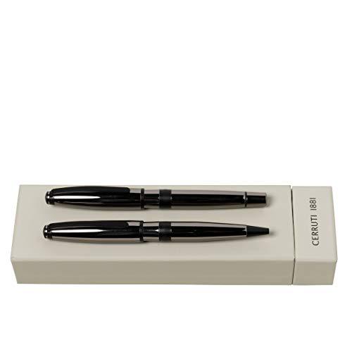 CERRUTI 1881 Juego de escritura Bicolor Gun | bolígrafo y pluma estilográfica | estuche de regalo