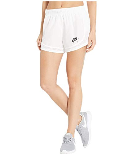 Nike Womens Tempo Short Air Running Shorts BV3325-100 Size M White/Black