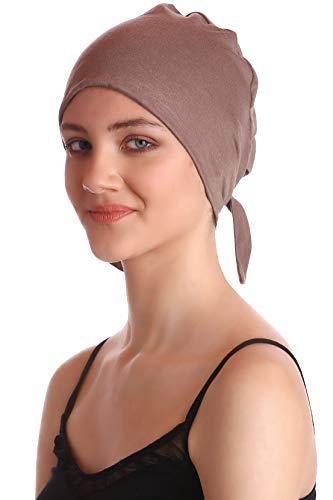 Komfort Baumwolle-Kappe Mit Binde An Der Ruckseite Fur Haarverlust, Cancer, Chemo (Mink)