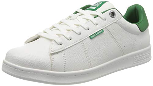 Jack & Jones NOS Jfwbanna PU White/Amazon Noos, Zapatillas para Hombre, 43 EU