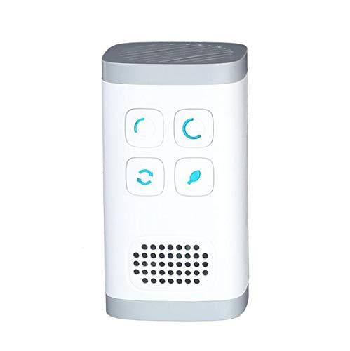 El purificador de aire HEPA, silenciosamente ioniza y purifica el aire para reducir el olor y las alergias causadas por moho, humo, polvo, polen y caspa de mascotas