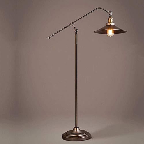 Lámpara de pie con brazo oscilante LEBBD, lámpara de pie grande ajustable...