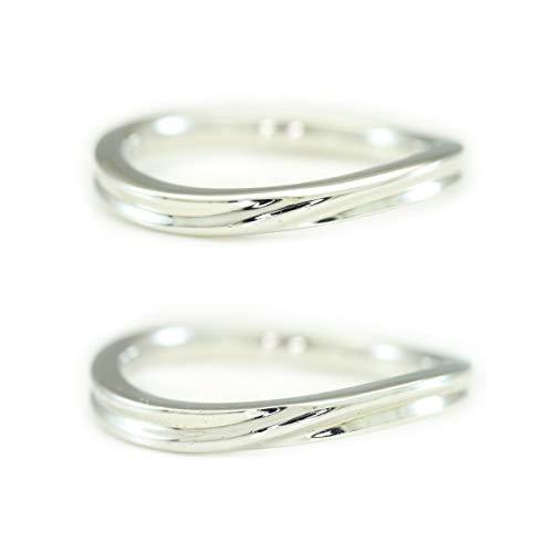 [ココカル]cococaru シルバー ペアリング 2本セット 結婚指輪 マリッジリング 日本製(レディースサイズ14号 メンズサイズ6号)
