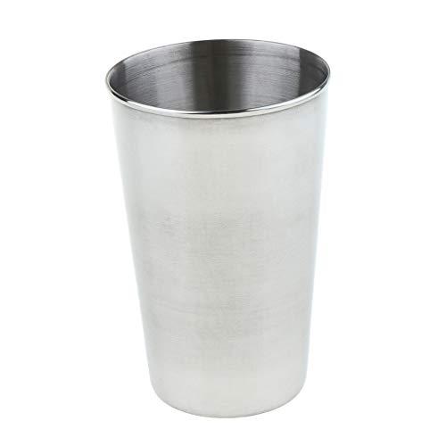 MERIGLARE Vasos de Cerveza de Acero Inoxidable de 430 Ml Vasos de Agua Vasos de Agua Vasos para Beber