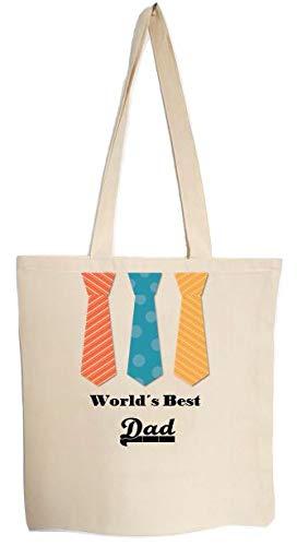 Worlds Best Dad - Bolsa de regalo para el día del padre