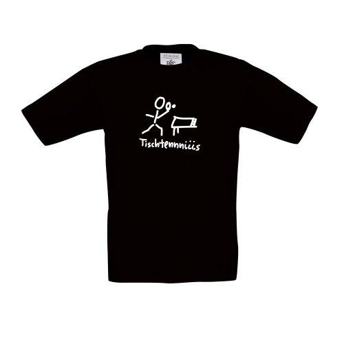 tischtennis , Kinder T-Shirt, Größe 152 - 164, schwarz