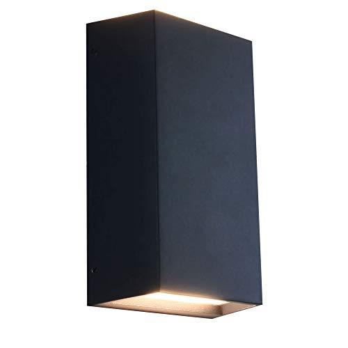 LED Außenleuchte Außenwandleuchte IP54 schwarz 6W Wandlampe Wandleuchte up&down Außenlampe Lampe 1354B wandaußenleuchte MAXKOMFORT®