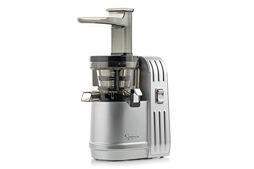 Sana Juicer EUJ-828 in Matt-Silber - Vertikaler Slow Juicer