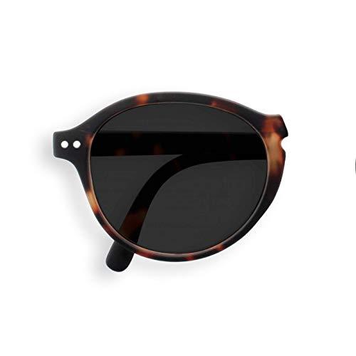 Gafas de sol plegables Izizi Paris Sun LetmeSee #F Tortoise para viajes, diseño de lago