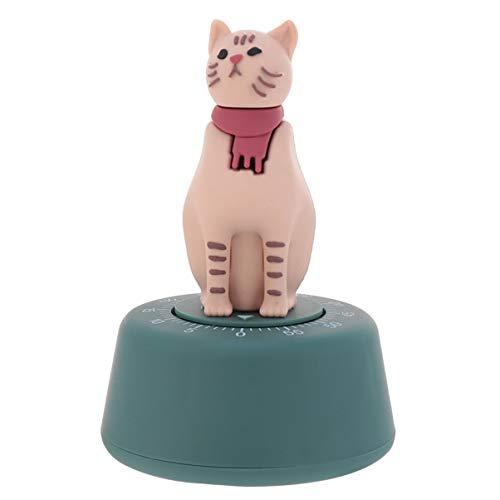 STOBOK Timer da cucina con simpatico gatto, timer, timer per il conto alla rovescia, timer per la cottura, lo sport, lo studio, il lavoro, il compleanno, regalo blu, plastica, verde, 7.2×11.6CM