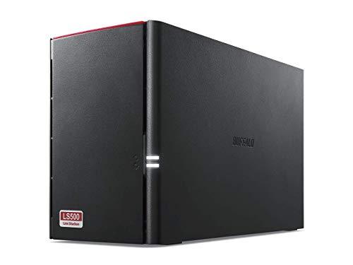 BUFFALO NAS スマホ/タブレット/PC対応 ネットワークHDD 8TB BLACK LS520D0802G 【同時アクセスでも快適な高速モデル】