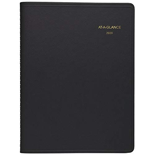 "AT-A-GLANCE 2020 Weekly Planner, 6-3/4"" x 8-3/4"", Medium, Black (7085505)"