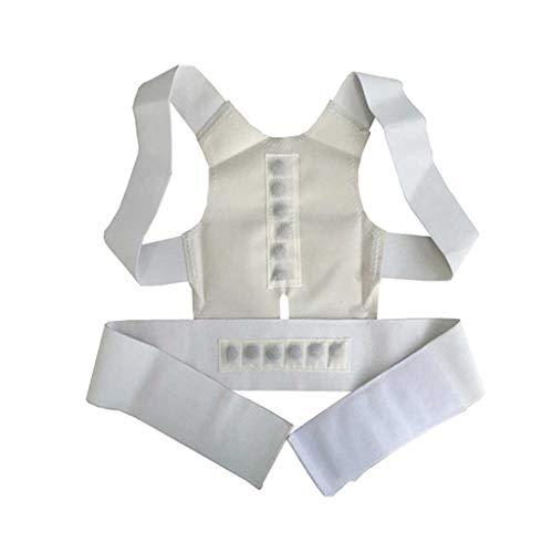 AWEDE Orthese Korsett Back Brace Haltung Korrektor Sporttherapie Magnetische Haltung oberer Rückenkorrektor (Color : White, Size : Large-XXL)