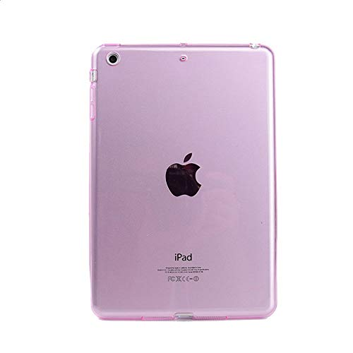 GHC PAD Cases & Covers For iPad Air 1 9.7'', Soft Crystal Clear Tablet Case Clear Transparent TPU Bumper Cover for iPad Air 1 A1474 A1475 (Color : Pink)