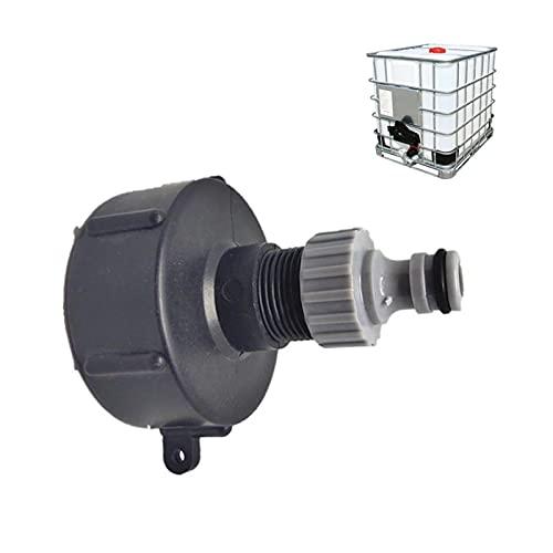 Mamelon - Conector rápido para depósito de 1000 L, S60X6 IBC, conexión de grifo multitanks, conector de manguera para adaptador de depósito IBC (3/4 pulgadas)