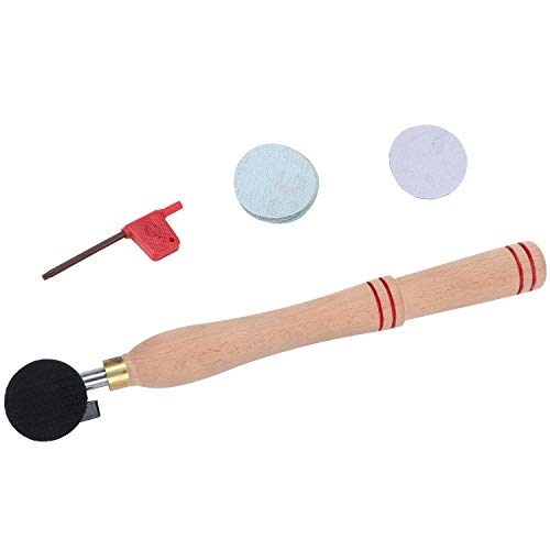 WiMas Holzschüsselschleifer Schleifwerkzeug, Holzbearbeitung Polieren Drehmaschine Drehwerkzeuge Set mit Schleifscheibe Pad für Holzwender auf Schüsselplatten und konkave Oberfläche