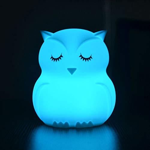 LEDMOMO Fernsteuerungs-LED-Noten-bunte Eule, die Lampe Atmosphäre Nachttischlampe klopft, keine Batterie eingeschlossen