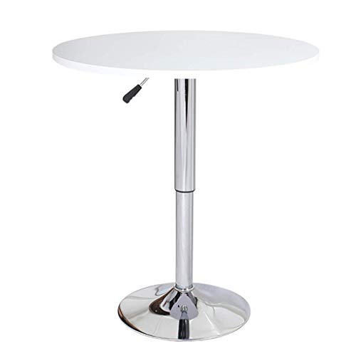 Desk,Table, White Can Be Lifted (60-80Cm) Round Negotiation Table, Coffee Table/Leisure Table/Terrace Afternoon Tea Table,70Cm,70Cm