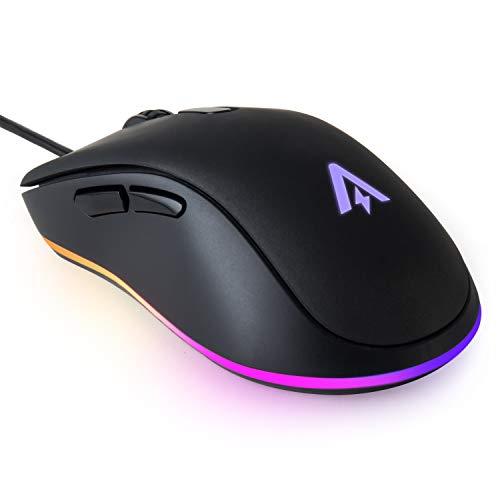 Anker Gaming-Mouse mit 6 DPI-Einstellungen (800, 1600, 2400, 3200, 4800, 6400 DPI), USB-Maus 1000 Hz Signalrate, Einstellbare Tasten, ergonomisches Design